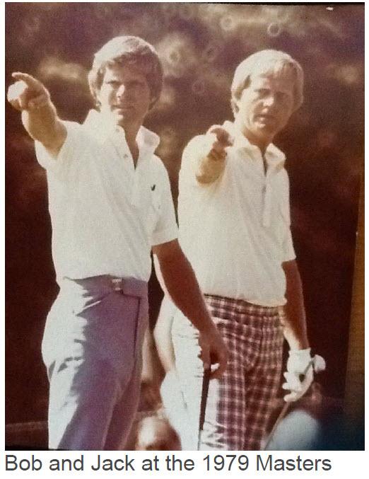 Bob and Jack at 1979 Masters