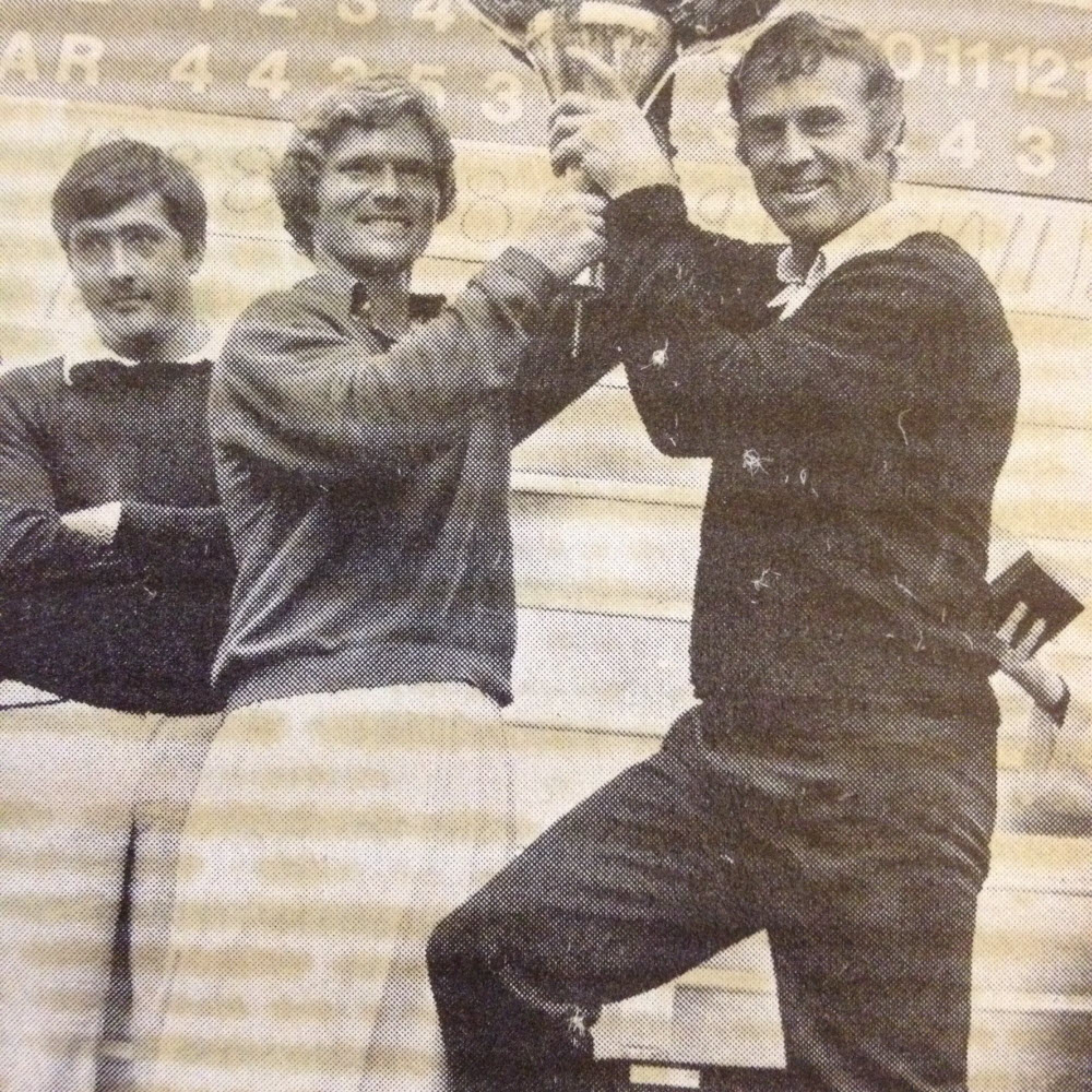 A young Bob Byman and Seve Ballesteros